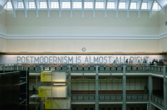 'Postmodernism Is Almost All Right: Architecture After Socialism and the Post-Colonial Experience'. Installation view, Warsaw Museum of Modern Art, 2011. Courtesy Agata Pyzik and Warsaw Museum of Modern Art