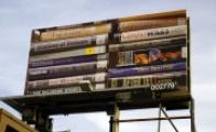 Harrell Fletcher, The American War, billboard project, La Cienega Boulevard between Venice and Washington Boulevard facing north. Courtesy LAXART. Photograph by Lesley Moon. Part of LAXART's Public Art Initiatives